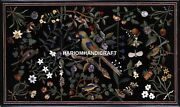 Marble Dining Table Top Rare Parrot Rare Mosaic Inlay Marquetry Decor Arts H1721