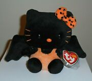Ty Beanie Baby - Hello Kitty Bat 2010 Version Mint With Mint Tags Sticker
