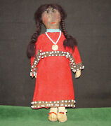Native American Indian 1880and039s Beaded Leather And Muslin Crow Or Northern Plains