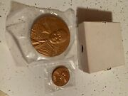 14th Dalai Lama Of Tibet 3 Inch Bronze Medal From Us Mint With Stand And Box