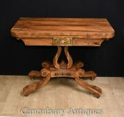 Antique Card Table - Rosewood Regency Games Tables Circa 1810