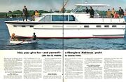 1967 Hatteras 44 Ft Triple Cabin Cruiser Yacht Photo 2-page Vintage Print Ad