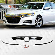 For 2018-2021 Honda Accord Glossy Black Front Grille Grill Molding Trim