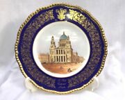Antique Coalport Cabinet Plate The St. Pauland039s Plate Marriage Of Diana And Charles