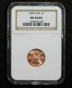 2006 Lincoln Memorial Cent Satin Finish Sms Ngc Ms-69 Red 181x