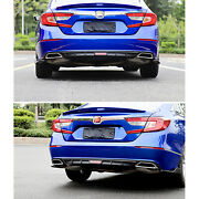 Fit For Honda Accord Rear Bumper Side Wing Diffuser Valence Spoiler Lip 2018-19