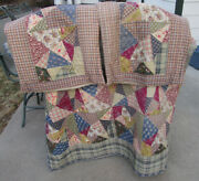 Lasting Impressions By Victorian Heart Queen Cotton Quilt And 2 Pillow Sham Set