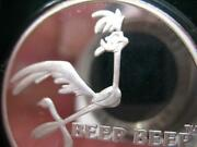 1 Oz.999 Silver Rare 1990 Road Runner Wile Coyote Bugs Bunny 50th Anniversy+gold