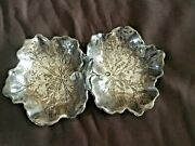 Maple Leaf By Reed And Barton Sterling Silver Nut/candy Dish Double Bowl X102a