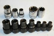 Snap-on Tools Mac Tools External Shallow, Double Square Inverted Torx Socket Lot