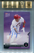 Mike Trout Autographed 2020 Topps Now Purple Card Bgs