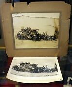 1910's Photo Telephone Pioneers Long Island Indian Motorcycle 8x10 Photograph