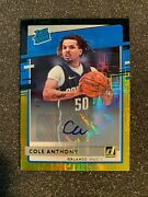 2020-21 Donruss Choice Cole Anthony Rated Rookie Black Gold Auto 2/8 Sp Prizm