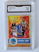 2009 Stephen Curry First Ever Gold Rookie Card Graded Gma Gem Mint 10 Warriors
