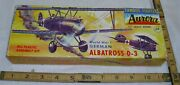 Aurora Famous Fighters German Albartross D3 Wwi Airplane Model Kit Box Only Kit