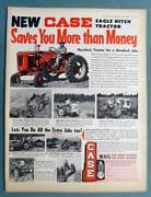 10x14 Original 1954 Case Vac Tractor Ad Handiest Tractor For A Hundred Jobs