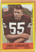 1967 Philadelphia Football Chris Hanburger Rookie 183 Redskins Nm/nmmt 77402