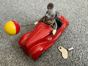 Vintage 1950's Schuco Sonny Mouse 2005 Tin Wind Up Bmw Toy Car Us Zone Germany