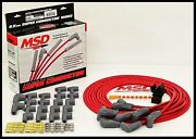 Msd Super Conductor Universal Wires Red, 90° Boots. Msd-31239