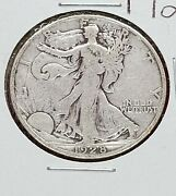 1928 S Walking Liberty Silver Half Dollar Coin Fine Details Shiny Look