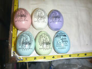Vtg 1997 White House Easter Egg Roll - Wood Egg Auto-signed By The Clintons