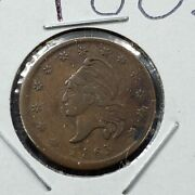 1863 Liberty Head Union Civil War Token One Cent For Tribute Avg Circulated F/vf
