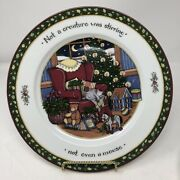 International China Christmas Story Dinner Plate Not A Creature Susan Winget