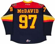 Connor Mcdavid Autographed Jersey - And Inscribed Erie Otters Upper Deck Certified