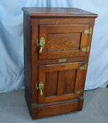 Antique Oak Ice Box Andndash White Mountain Company Andndash Only 27andprime Wide Andndash