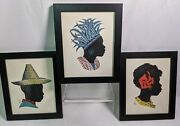 African Art Hand Silhouette Unknown Artist Signed Sb 3 Pictures In Total