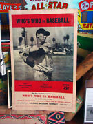 Vintage 1943 Mlb Boston Red Sox Ted Williams Whoand039s Who In Baseball Poster Sign