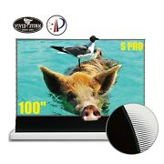 Vividstorm 100 Motorized Ultra Shot Throw Laser Projector Screen For Home Class