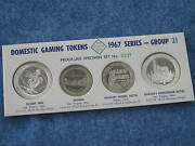 1967 Franklin Mint Domestic Gaming Tokens Group 21 Proof Set Of 4 Nevada B8277
