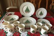 Set 32 Noel Porcelle House Of Salem Xmas Dishes Wreath Tree Service For 8 Nice