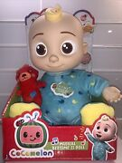 Cocomelon Musical Bedtime Jj Doll Teddy Bear And Roto Head     Free Shipping