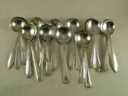 50 Bouillon Soup Spoons Mixed Vintage Silverplate Polished Crafting Lot Wedding
