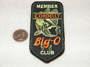 Cotton Cordell Fishing Big O Club Member Embroidered Vintage Patch New Old Stock