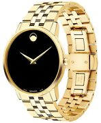 Movado, Men's Museum Classic Gold-tone Pvd Stainless Steel Bracelet Watch, 40 M