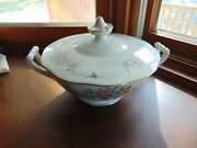 Baronet China Covered Serving Bowl - Made In Bohemia Czechoslovakia