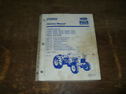 Ford New Holland 2000 3000 4000 Tractor Series Hydraulic Service Repair Manual