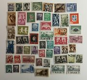 100 Different German State - Saar Stamp Collection