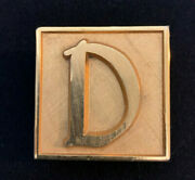 Gold Toned Heavy Initial 'd' Paperweight Vintage Small