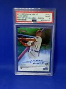 2018 Bowmans Best Juan Soto Green Rc Refracters /99 Auto Psa9 Hot Card