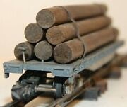 American Flyer Candnwry Log Flat Car With Logs 42597 C-7 Excellent -dj