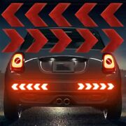 10pcs Reflective Car Auto Motorcycle Arrow Sign Decal Tape Sticker Accessories