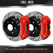 Wilwood Street Drilled And Slotted Rotor Aero4 Caliper R Brake For 13-14 Silverado