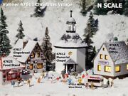 Vollmer N Scale 47613 Christmas Winter Village Extras 5 Kits New Usa Dealer N