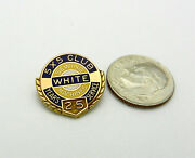 Vintage 10k Yellow Gold Sewing Machines 25 White 5x5 Club Pin Brooche 2.8 Grams