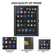Military Medals Pin Patches Badges Ribbons Insignia Flag Display Case Cabinet