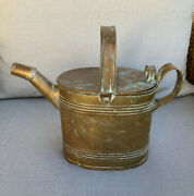 Antique Whimsical Brass French Marked Antique Watering Can Garden Indoor Outdoor